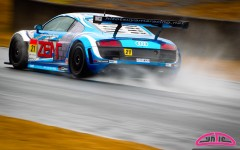 Cyndie Allemann in the #21 Hitotsuyama Racing Audi R8 LMS
