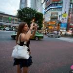 Cyndie Allemann visits the Shibuya district of Tokyo