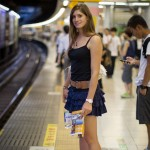 Cyndie Allemann takes a ride in the public transit system of Tokyo