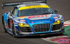 Cyndie Allemann in the Hitotsuyama Racing Audi R8 LMS