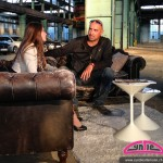 Cyndie Allemann with 'Auftrag Auto' co-host Alex Wesselsky