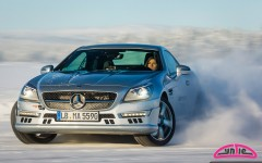 Cyndie Allemann at the AMG Driving Academy 'AMG Winter Sporting' event in Arjeplog, Sweden