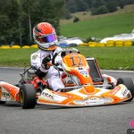 Cyndie Allemann, on her way to the KZ2 victory on her Spirit Racing Team RK chassis kart