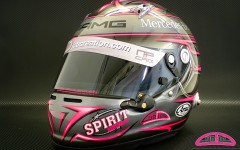 Helmet of Cyndie Allemann, version Mercedes-AMG 2013