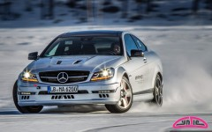 Cyndie Allemann at AMG Driving Academy Winter Sporting, Sweden